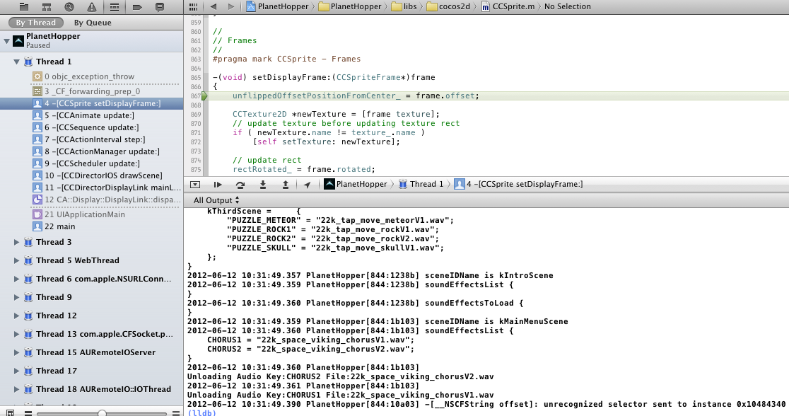 1. XCode Console debugging