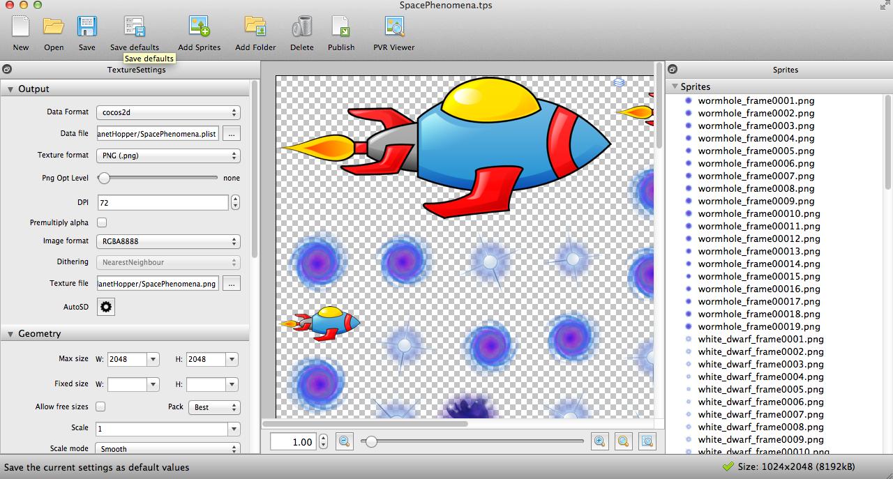 TexturePacker for Spritesheets by Santiapps.com - Marcio Valenzuela