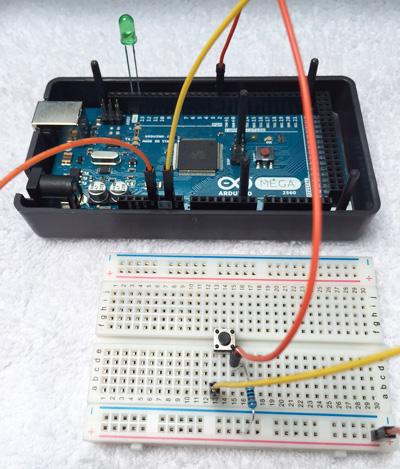 Arduino Boton LED Santiapps Marcio Valenzuela