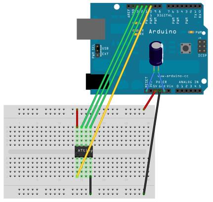 Arduino IoT: Tutorial Programming ATtiny85 via Arduino UNO R3 ArduinoISP by Santiapps Marcio Valenzuela