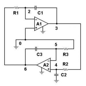 Arduino IoT: Circuito Sencillo Quadrature Oscillator by Santiapps Marcio Valenzuela