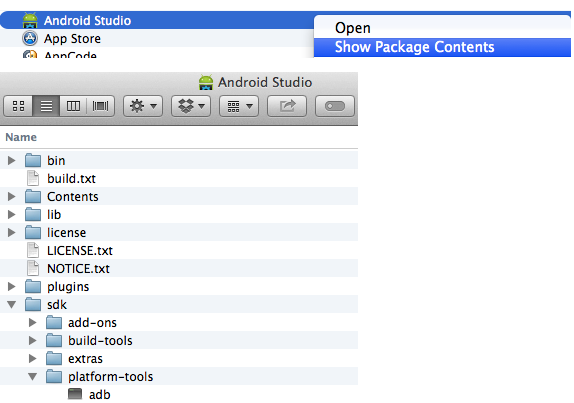 Android Studio Package Contents Environment Variables Symbolic Links ADB Configuration by Marcio Valenzuela Santiapps.com