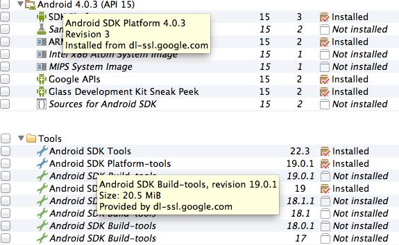 Android Studio SDK Manager Glass GDK Sneak Peek by Marcio Valenzuela Santiapps.com