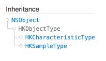 HealthKit HKObject Hierarchy Santiapps.com