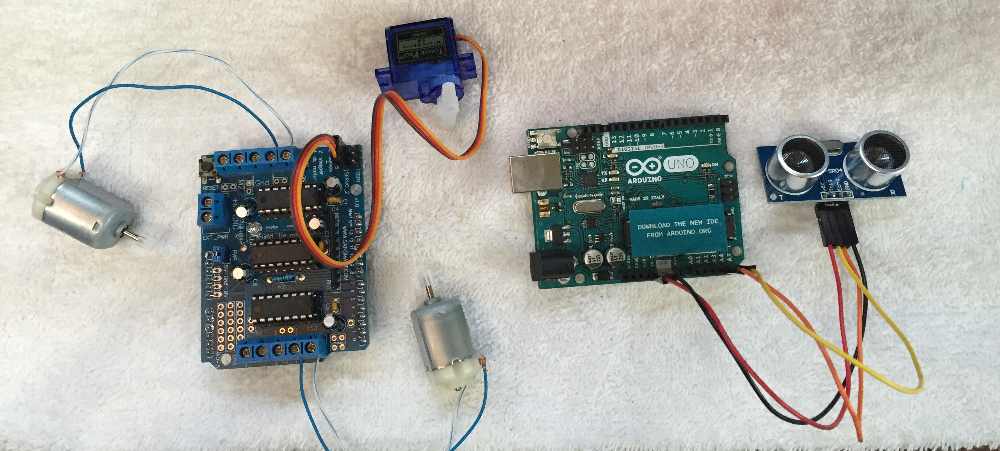 Arduino Robot Autonomo Movil Motor Shield Tutorial Santiapps Marcio Valenzuela