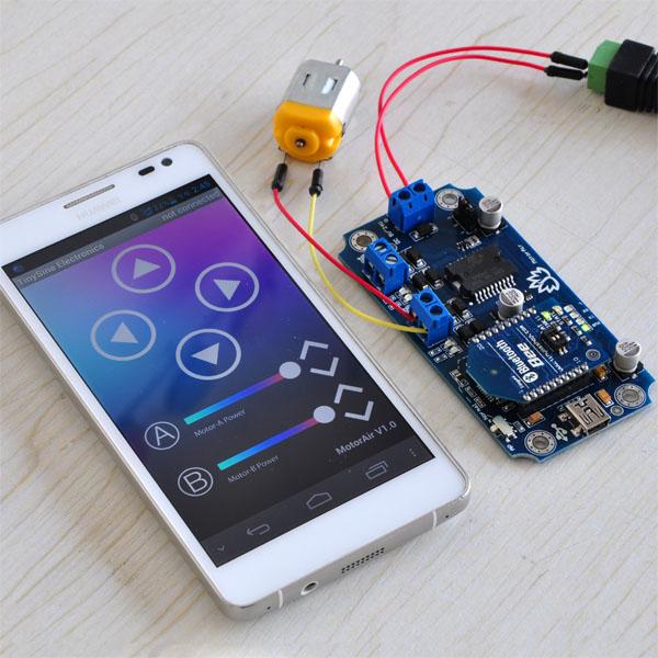 Arduino (IoT) Simple Tutorial MotorAir Bluetooth Motor Driver Board Santiapps Marcio Valenzuela